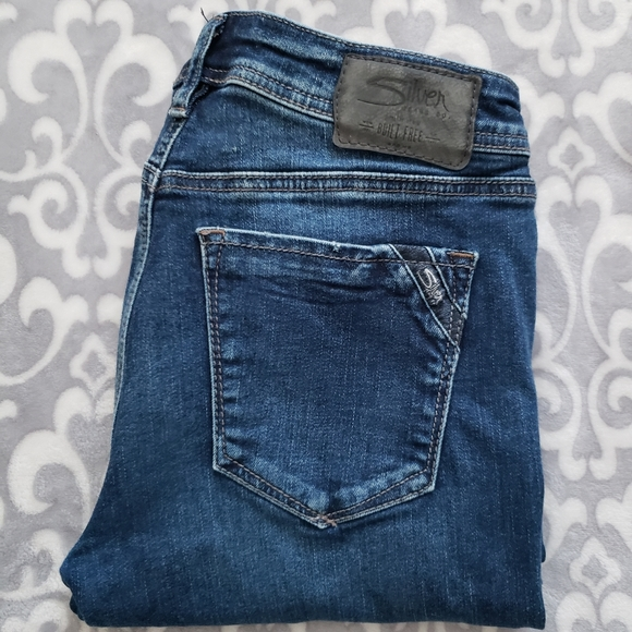 Silver Jeans Avery Slim boot, Size 27